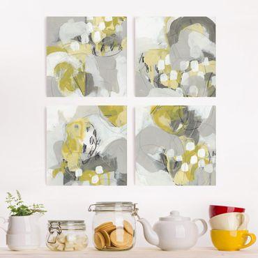 Stampa su tela - Limoni Nella Nebbia Set II - 4 parti