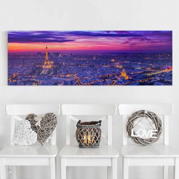 Stampa su tela - Parigi di notte - Panoramico