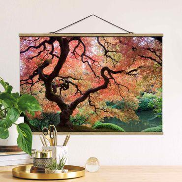 Foto su tessuto da parete con bastone - Giardino Giapponese - Orizzontale 2:3