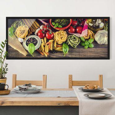 Poster con cornice - Pasta - Panorama formato orizzontale