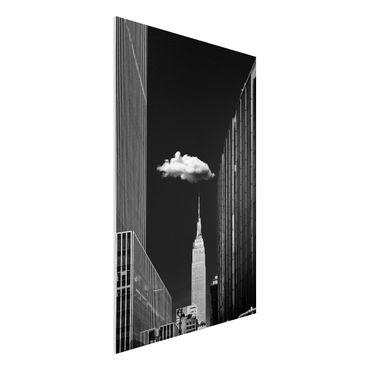 Quadro in forex - New York Con nuvola - Verticale 2:3