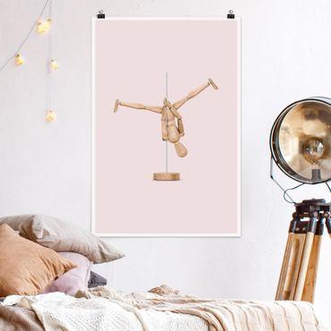 Poster - Jonas Loose - Pole Dance Con Figura legno - Verticale 3:2