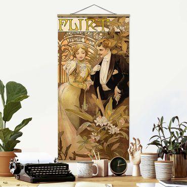 Foto su tessuto da parete con bastone - Alfons Mucha - Pubblicità Poster For Flirt Biscuits - Verticale 2:1