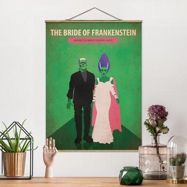 Foto su tessuto da parete con bastone - Poster del film La moglie di Frankenstein - Verticale 4:3