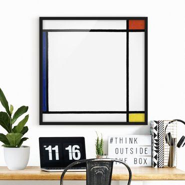 Poster con cornice - Piet Mondrian - Composition III - Quadrato 1:1