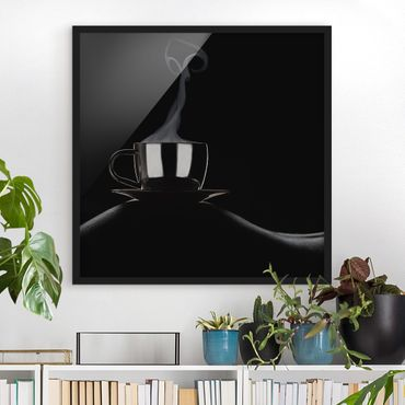 Poster con cornice - Coffee In Bed - Quadrato 1:1