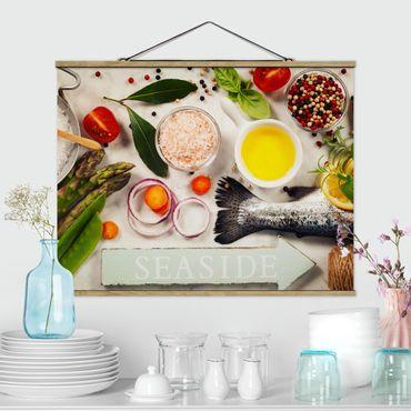 Foto su tessuto da parete con bastone - marina - Orizzontale 3:4