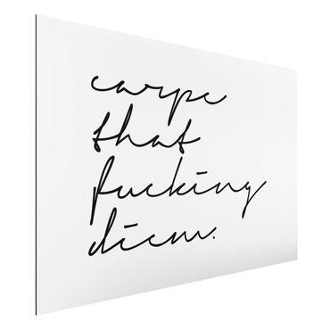 Stampa su alluminio - Calligrafia Carpe Diem - Orizzontale 2:3