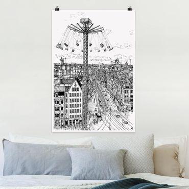 Poster - Città Studi - Whirligig - Verticale 3:2