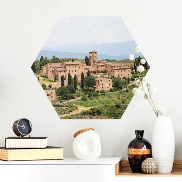 Esagono in Alu-dibond - Toscana di Charme