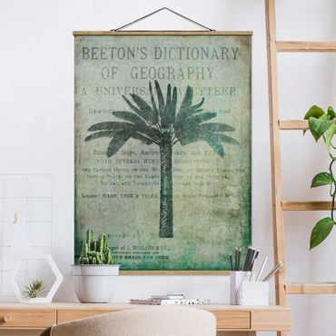 Foto su tessuto da parete con bastone - Vintage collage - Antique Palme - Verticale 4:3