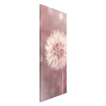 Lavagna magnetica - Dandelion rosa bokeh - Panorama formato verticale