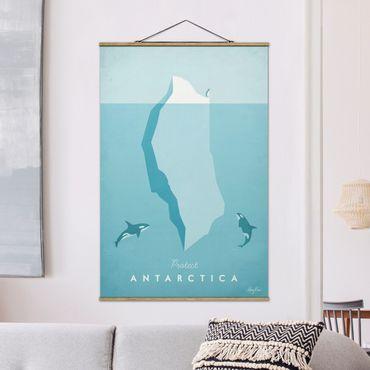 Foto su tessuto da parete con bastone - Poster di viaggio - Antartide - Verticale 3:2