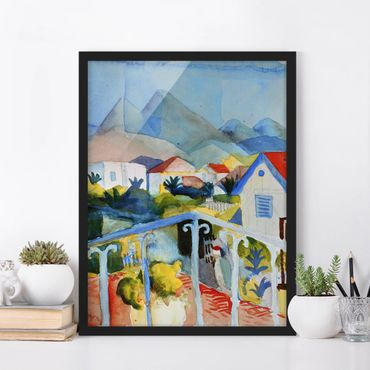 Poster con cornice - August Macke - Saint Germain Near Tunis - Verticale 4:3
