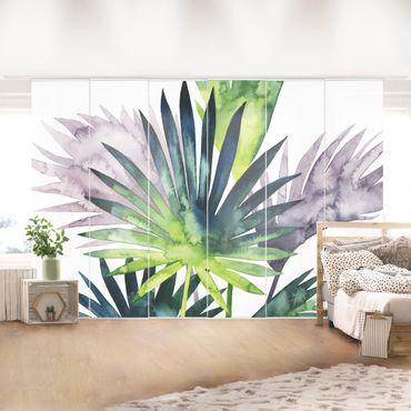 Tenda scorrevole set - Foglie tropicali - Palma