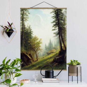 Foto su tessuto da parete con bastone - Albert Bierstadt - Nelle Alpi Bernesi - Verticale 4:3