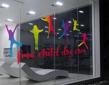 Adesivi per finestre no.JO68 Wunschtext Happy Kids