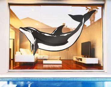 Adesivi da finestra No.TA49 Dolphin