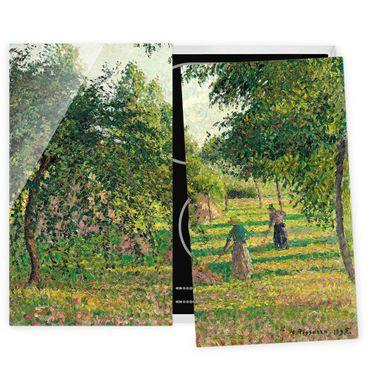 Coprifornelli in vetro - Camille Pissarro - Apple Trees - 52x80cm