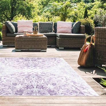 Tappeti in vinile - Ornamento mandala in acquerello violetto - Quadrato 1:1