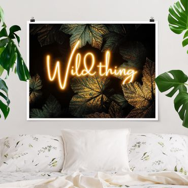 Poster - Wild Thing Golden Leaves - Orizzontale 3:4
