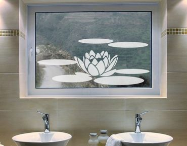 Adesivo per finestre - No.UL68 Waterlilly