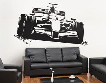 Adesivo murale No.EG4 racing car