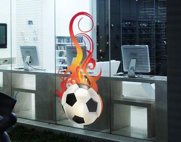 Adesivi da finestra no.EG5 FOOTBALL ON FIRE