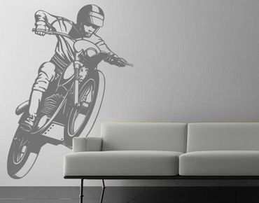 Adesivo murale monocromatico No.IS49 Motocross