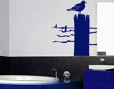 Adesivo murale No.IS24 Lonesome Sea Gull