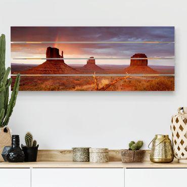 Stampa su legno - Monument Valley al tramonto - Orizzontale 2:5