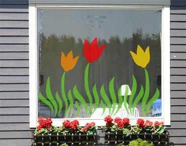 Adesivi da finestra no.CG34 Meadow Of Tulips