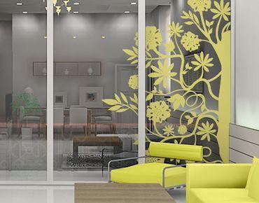 Adesivo per finestre - no.TA79 Floral Corner