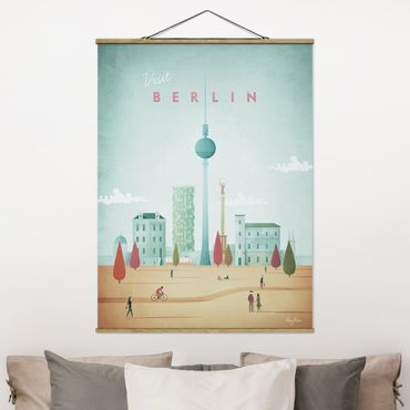 Foto su tessuto da parete con bastone - Poster viaggio - Berlino - Verticale 4:3
