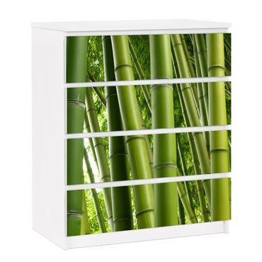 Carta adesiva per mobili IKEA - Malm Cassettiera 4xCassetti - Bamboo Trees No.1