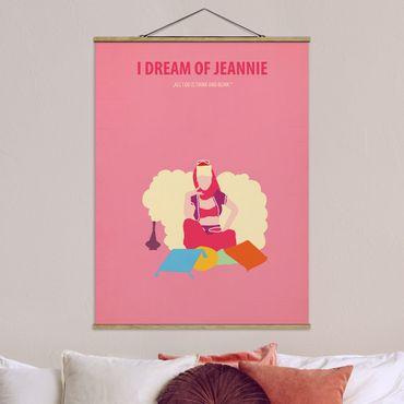 Foto su tessuto da parete con bastone - Locandina cinematografica I Dream Of Jeannie - Verticale 4:3