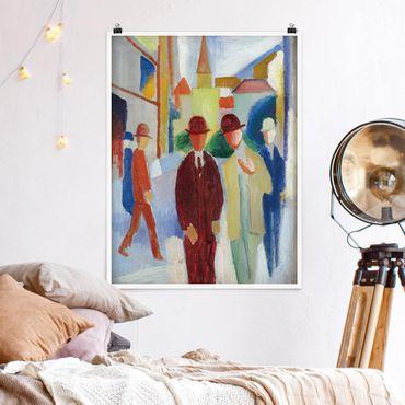 Poster - August Macke - Brillante strada con la gente - Verticale 4:3
