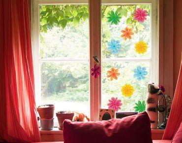 Adesivi da finestra no.EG23 Small Summer Blossoms