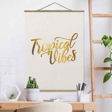 Foto su tessuto da parete con bastone - Gold - Tropical Vibes - Verticale 4:3