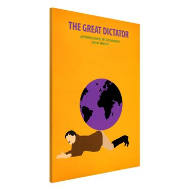 Lavagna magnetica - Poster del film Il grande dittatore - Formato verticale 2:3