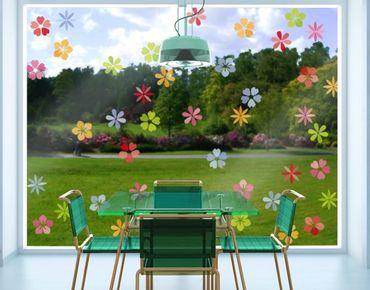 Adesivi da finestra no.IS58 See of Blossoms