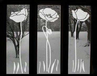 Adesivo per finestre - no.UL82 Three Poppies