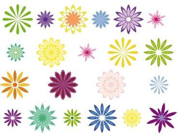 Adesivi da finestra No.FB19 Decorative flowers