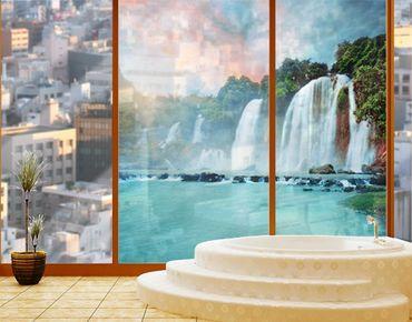 Decorazione per finestre Waterfalls Panorama