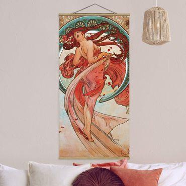 Foto su tessuto da parete con bastone - Alfons Mucha - Quattro arti - la danza - Verticale 2:1