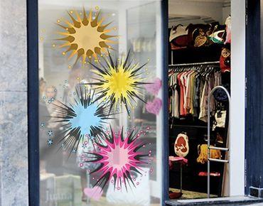 Adesivi da finestra no.610 Colourful Fireworks