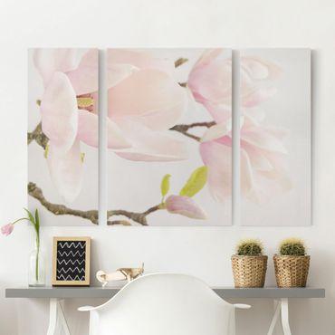 Stampa su tela 3 parti - Royal Magnolia - Trittico