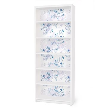 Carta adesiva per mobili IKEA - Billy Libreria - Blue Fantasy Pattern
