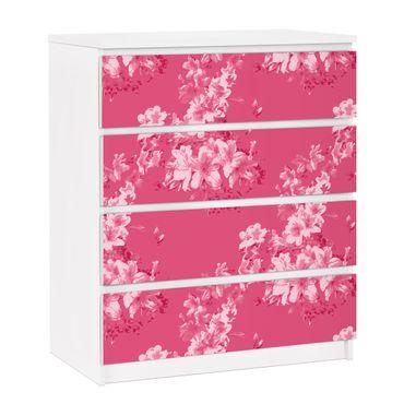 Carta adesiva per mobili IKEA - Malm Cassettiera 4xCassetti - Antique Flower Pattern