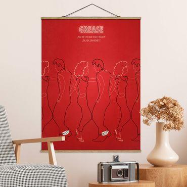 Foto su tessuto da parete con bastone - Grease Movie Poster - Verticale 4:3
